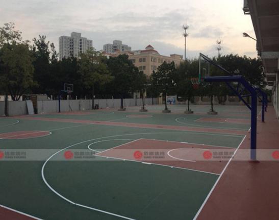 广州硅PU篮球场材料